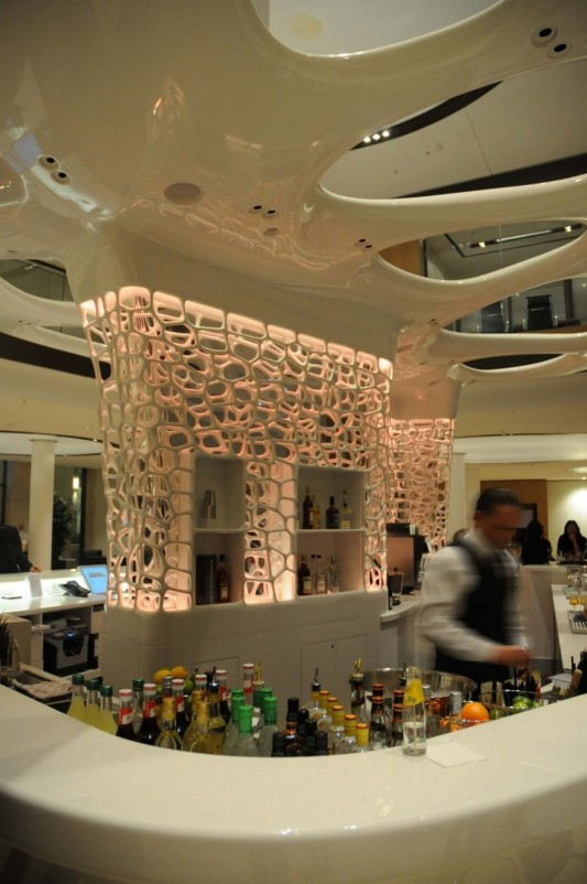 Pwc Lobby Cafe Reception Desk Futuristic Design By Joi