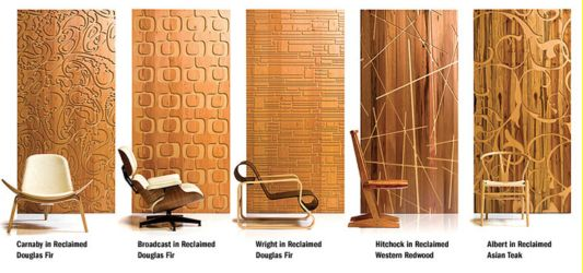 Reclaimed modern iconic wall panels