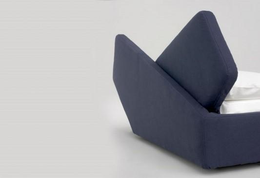 Ribbon modern minimalist bed design unique headboard detailed