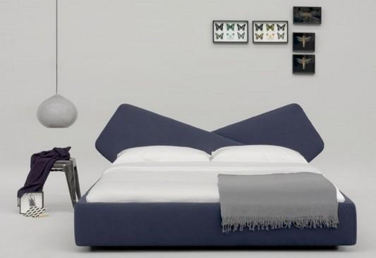Ribbon modern upholstered bed modern design