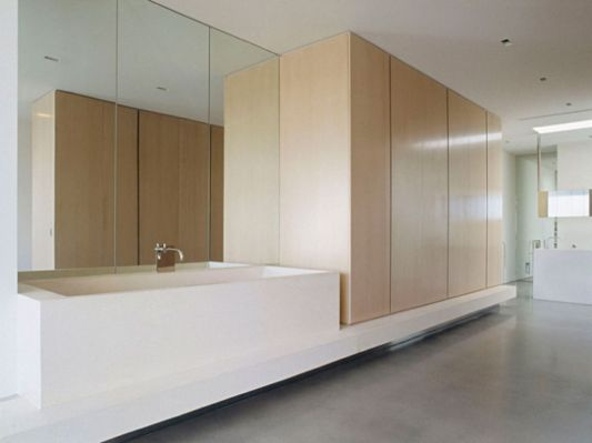 Ross Street Residence bathroom with large storage space