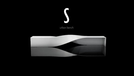 S-urban bench modern and futuristic design