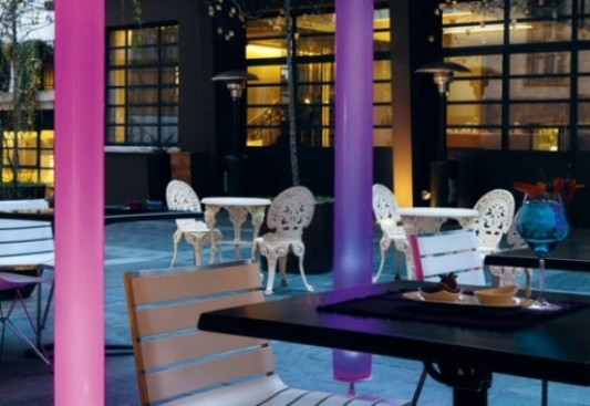 Sansone large Cylindrical Lamps- for outdoor design