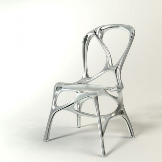 Shelly modern aluminum chair futuristic design by Peter Donders