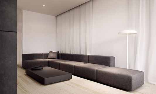 Single Family House living room design