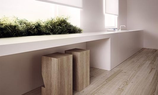 Single Family House minimalist washbasin design