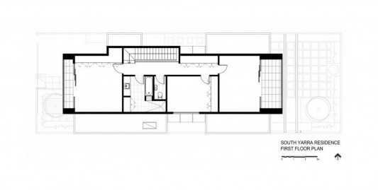 South Yarra House by LSA Architects first floor plan