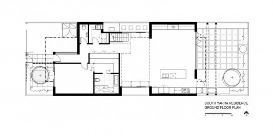 South Yarra House by LSA Architects ground floor plan