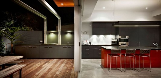 South Yarra House by LSA Architects internal and external kitchen ideas