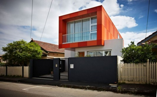 South Yarra House by LSA Architects unique with orange exterior color