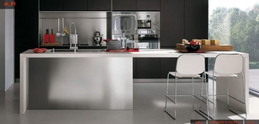 Stainless Steel Kitchen With Easy Care From Elmarcucine