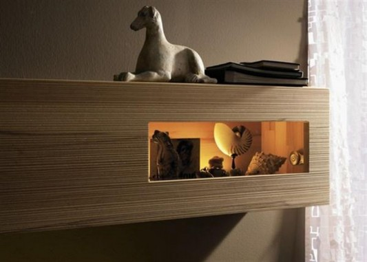 Suspended Unit simple stylish bedroom furniture design
