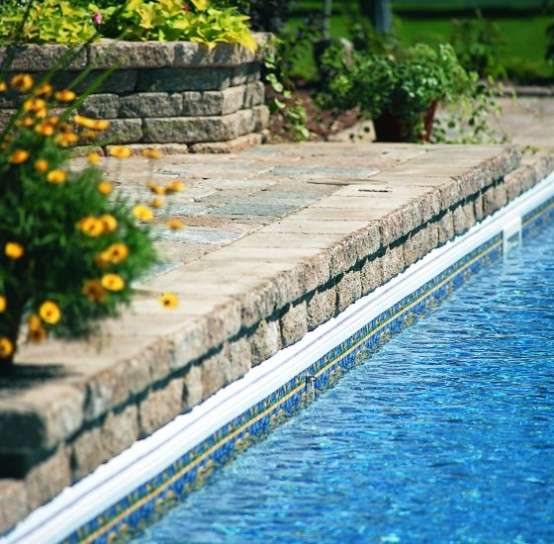 Swimming Pool Design with Great ideas Deck Stone