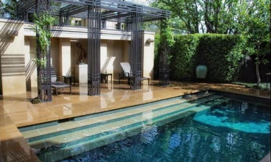 Swimming Pool Design With Which Shady trees
