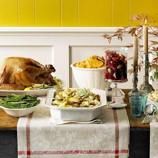 Thanksgiving Buffet Presentation with favorite menu display