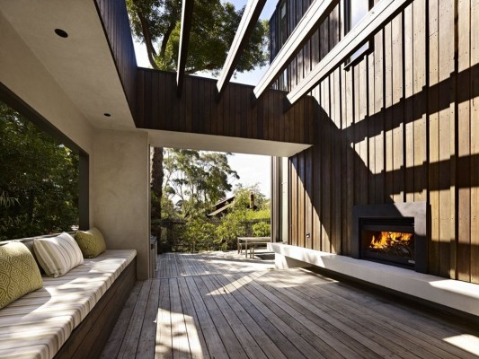 The Avenue Contemporary Multi Residence terrace lounge with fireplaces