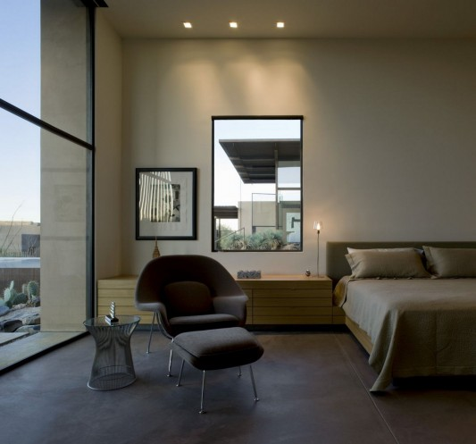 The Brown Residence by LakeFlato Architects bedroom