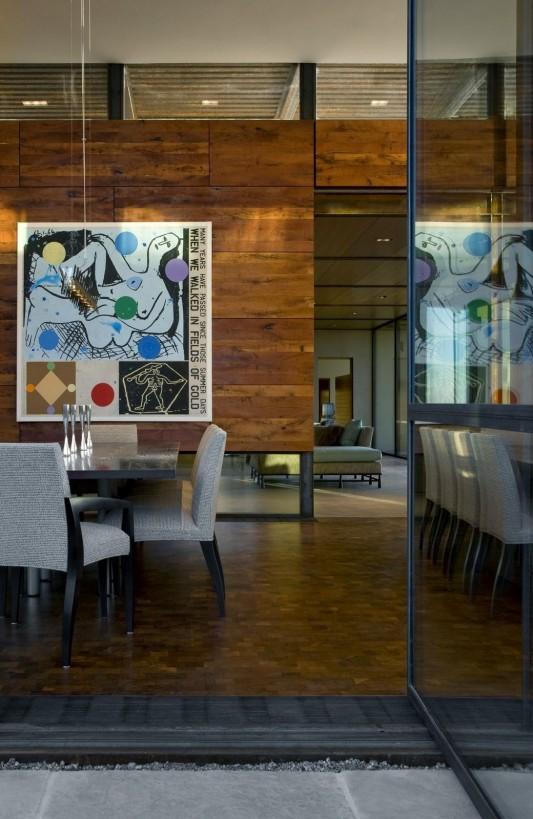 The Brown Residence by LakeFlato Architects dining room