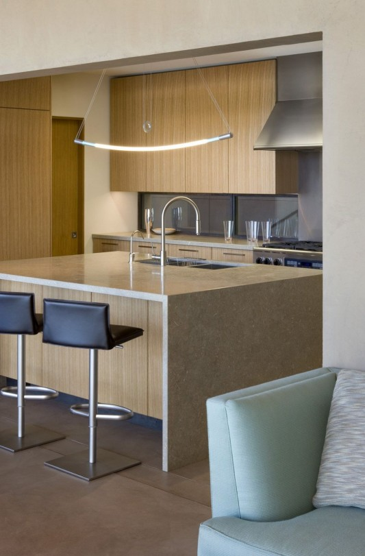 The Brown Residence by LakeFlato Architects kitchen counter