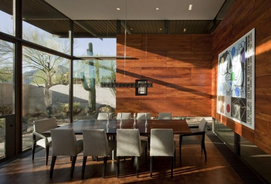 The Brown Residence by LakeFlato Architects large dining room design