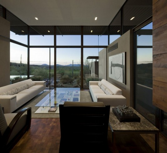 The Brown Residence by LakeFlato Architects living room