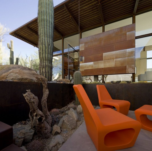 The Brown Residence by LakeFlato Architects outdoor lounge