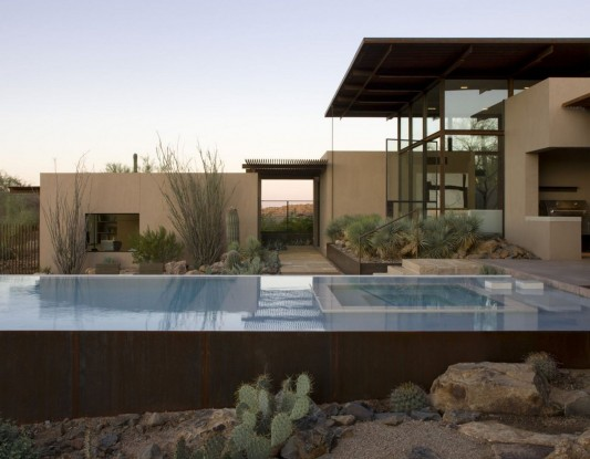 The Brown Residence by LakeFlato Architects swimming pool