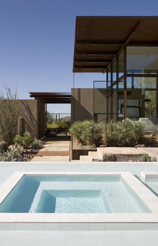 The Brown Residence by LakeFlato Architects swimming pool detailed