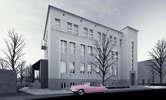 The Ochota Theater Building design back view
