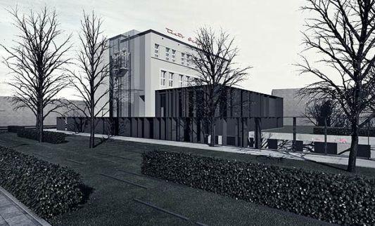 The Ochota Theater Building garden design