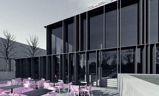 The Ochota Theater Building glass design