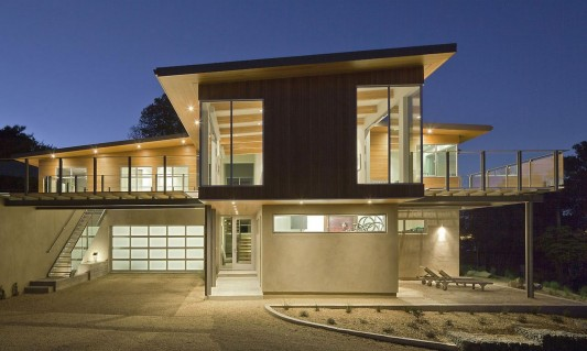 Amazing Tiburon Bay House Contemporary Innovative Sustainable Home Design Exterior