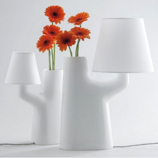 Touch table lamps design built-in flower vase