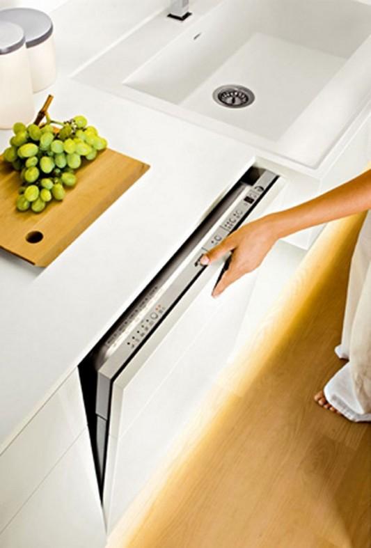 Ultra modern high gloss white kitchen cabinet