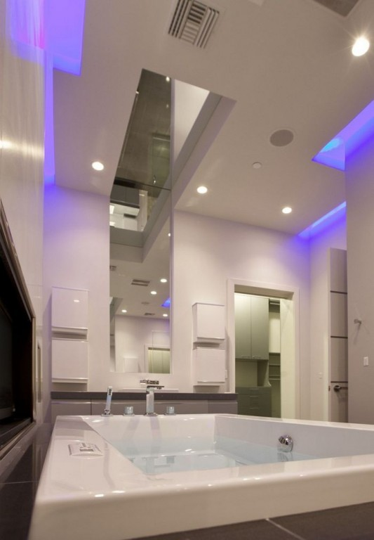 Ultra-modern residence with futuristic interior bathroom design