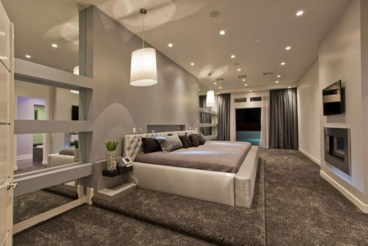 Ultra-modern residence with futuristic interior futuristic bedroom interior