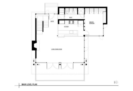 Vashon Island Cabin main level plan