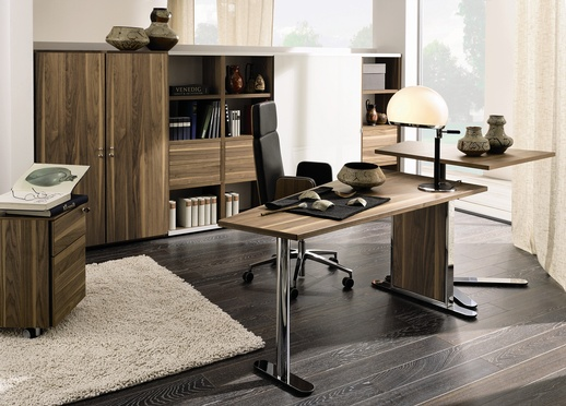 Walnut, office Furniture design  with a height settings
