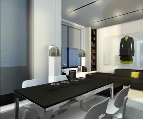 White Balance Interior Apartement Design by Dima Loginoff