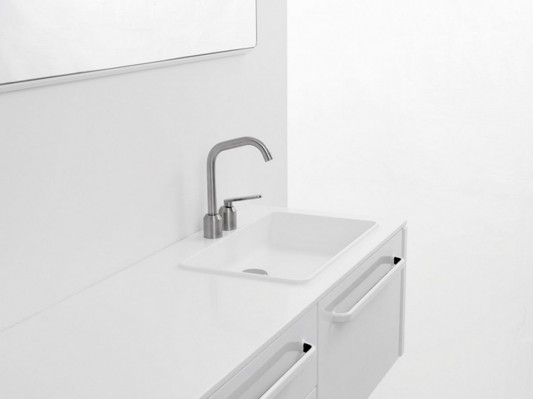 White modular bathroom furniture washstand detailed