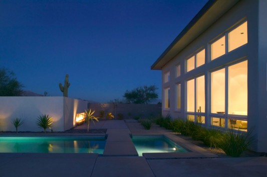 Winter Residence renovation in modern style by Ibarra Rosano Architects minimalist outdoor night
