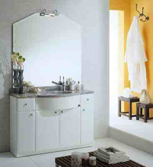 all in one washbasin  mirror and storage. Claudia     Washbasin  Storage and Mirror for Dry Bathroom By