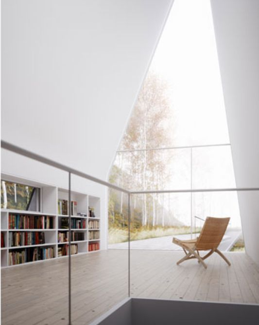 Allandale House With Triangle Shape And Planted Roof By