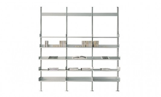 aluminum bookcase to wall or room divider