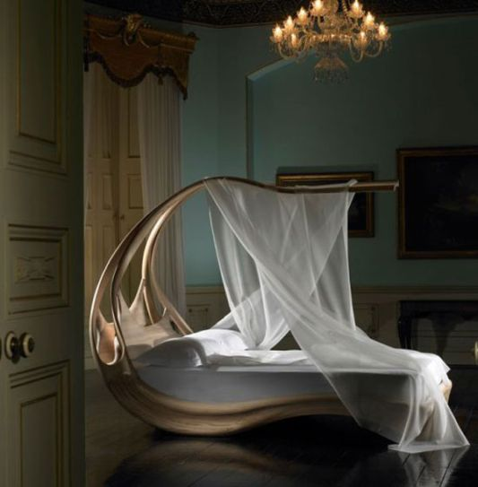 amazing classic canopy bed, enignum by joseph walsh studio