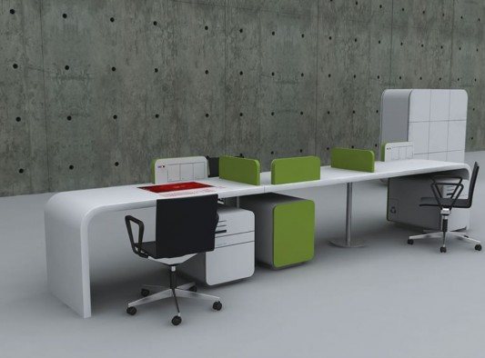 Futuristic concept office desk office furniture design by for New office design concept