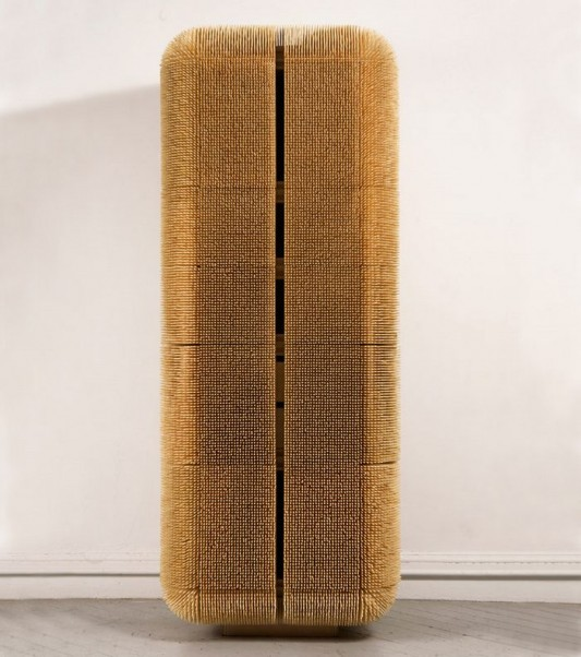 amazing modern cabinet design with Bamboo Skewers covered