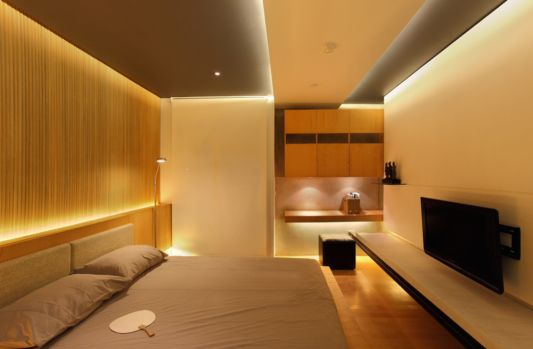 apartment design with a modern bedroom
