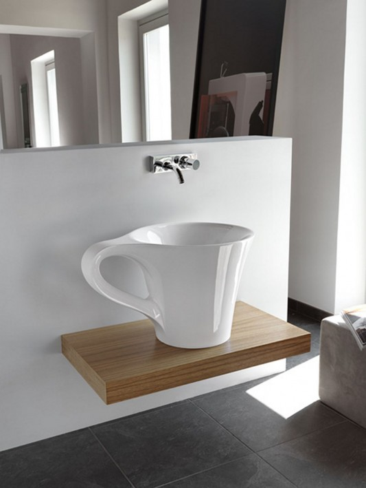 artceram basin cup elegant and beauty combination