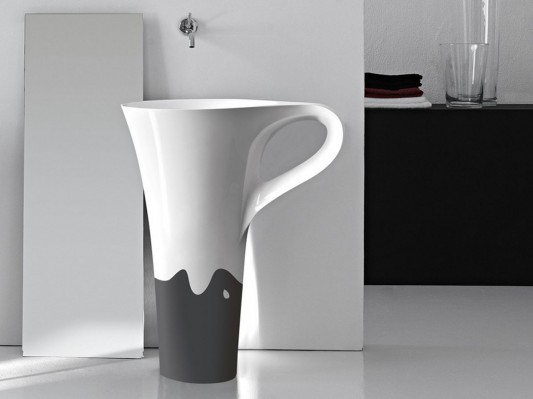 artistic and funny bathroom freestanding basin